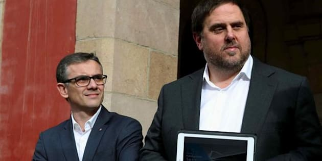 Josep Maria Jové y Oriol Junqueras