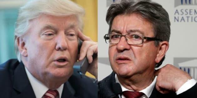 """""""Il n'a rien à faire là"""": Mélenchon """"déplore"""" l'invitation de Trump au défilé du 14-Juillet"""