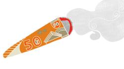 Fumer un joint sera bientôt puni automatiquement d'une