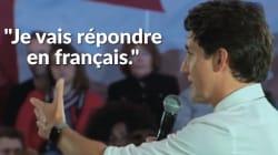 Justin Trudeau a dû s'excuser d'avoir répondu en français à cette question posée en