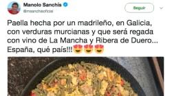 Las respuestas a este tuit de Sanchís presumiendo de paella son lo mejor leerás
