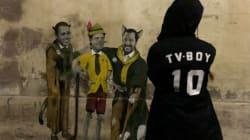 Conte è Pinocchio, Salvini e Di Maio il gatto e la volpe: la nuova opera di Tvboy a