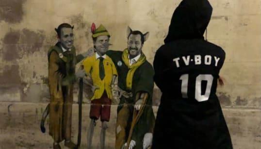 TVBOY COLPISCE ANCORA - Conte è Pinocchio, Salvini e Di Maio il gatto e la