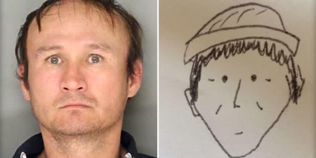 La photo du suspect Hung Phuoc Nguyen et son portrait témoin