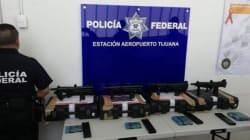 Detienen a persona con armas y municiones en aeropuerto de