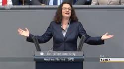 Nel 2013 la neo presidente dell'Spd cantò Pippi Calzelunghe al parlamento