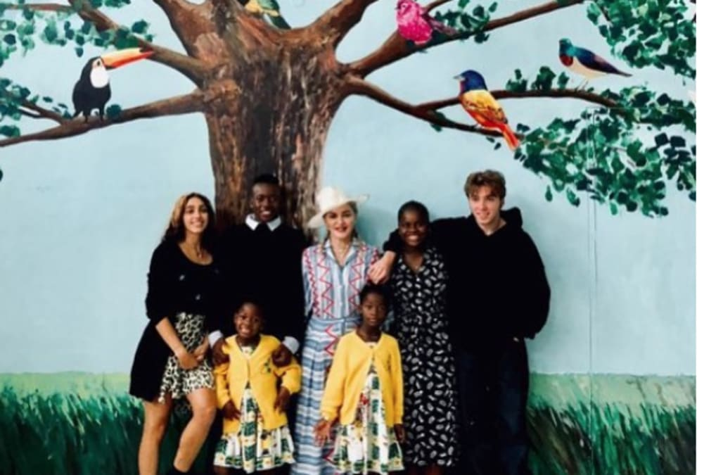 Madonna Poses With All 6 Of Her Children While Visiting Malawi