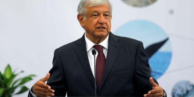 López Obrador durante el 16 Foro Nacional de Turismo en el Castillo de Chapultepec en Ciudad de México.
