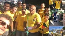 Il giorno delle magliette gialle che puliscono Roma. Battaglia di ramazza e tweet fra Pd e