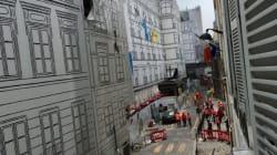 Une partie du chantier de La Samaritaine s'effondre tout près d'une
