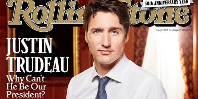 Rolling Stone Wants To Know - Why Can't Justin Trudeau Be Our President??