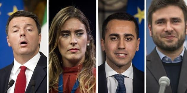 Renzi, Boschi, Di Maio, Di Battista