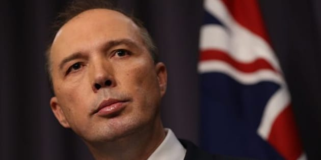 """Immigration Minister Peter Dutton says there are """"no constitutional issues here"""" a lifetime ban plan for refugees who sought asylum by boat"""