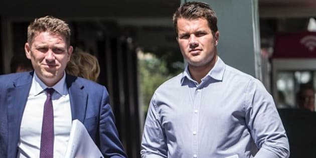 Gable Tostee (R) has plead not guilty to the murder of Warriena Wright.