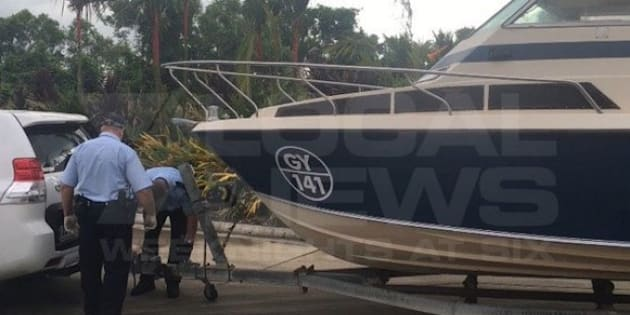 The boat seized near Cairns last week.
