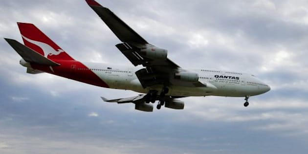 A Qantas 747 was involved in mid-air drama just one hour out from its destination.