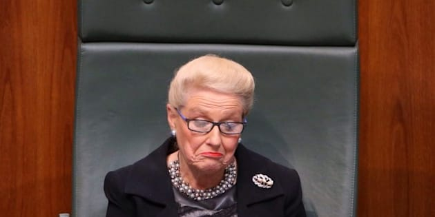 Bishop, before she was forced to resign as Speaker over her expense scandal.