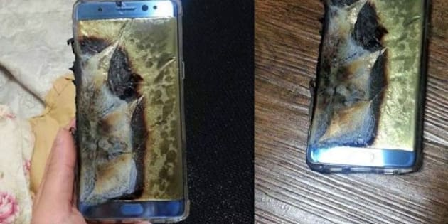 One of the large-screen smartphone Galaxy Note 7.