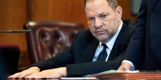 Harvey Weinstein, lors de la lecture de ses chefs d'inculpation en mai 2018.