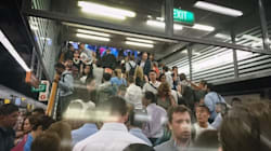 Train Commuters Stranded In Sydney CBD Following Power