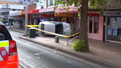 Car Ploughs Onto Footpath, Hits A Woman And A