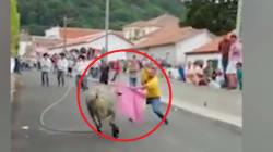 Choc in Portogallo: il torero fa la corrida con un neonato in