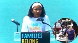 Niña dice BASTA a la separación de familias en Estados