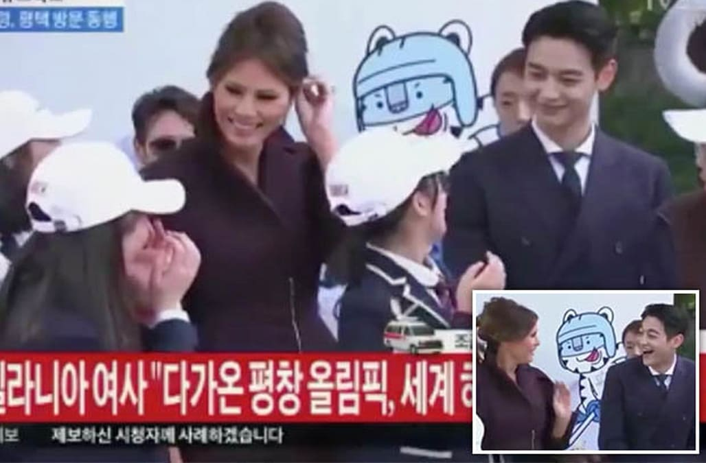 Awkward moment: Melania Trump ignored by South Korean girls