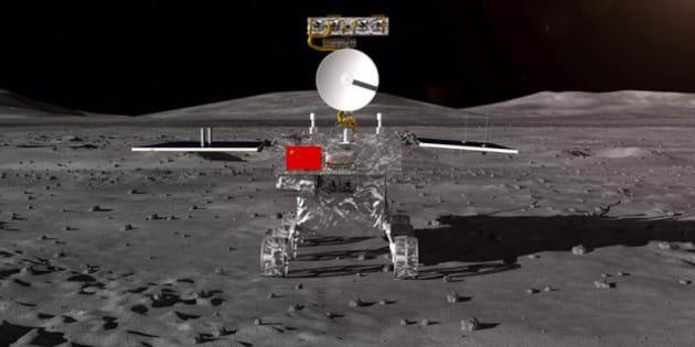 La sonde chinoise Chang'e 4 qui s'est posée sur la face cachée de la Lune.