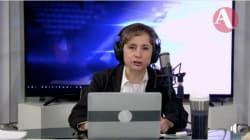 Carmen Aristegui responde sobre la intención de AMLO de que regrese a la