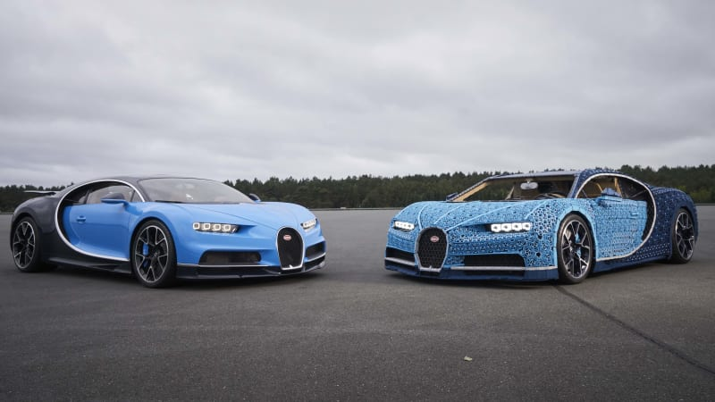 Lego Builds Life Size Driving Bugatti Chiron Out Of Technic Pieces
