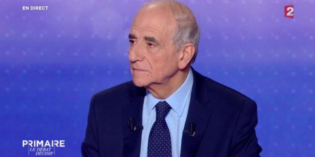 Jean-Pierre Elkabbach lors du débat de la primaire de la droite