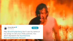 Jimmy Barnes Tells 'Shitty' Liberals Not To Use His