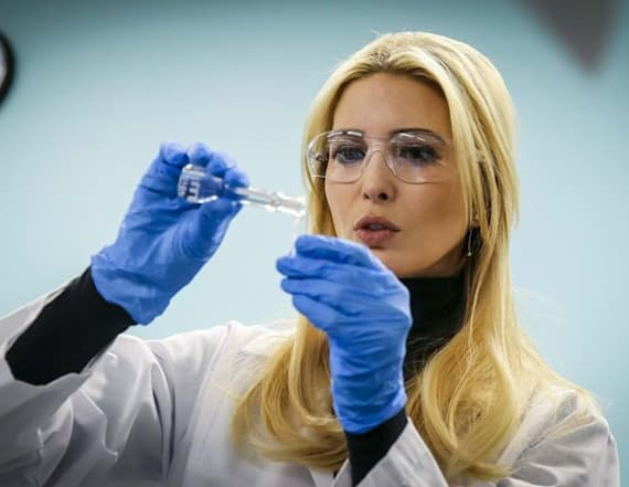 Ivanka Trump participates in 'vape juice' experiment
