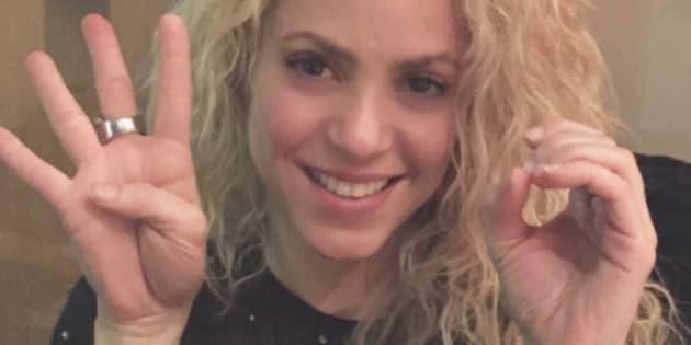 Shakira a posté cette photo sur son compte Twitter le 28 novembre dernier.
