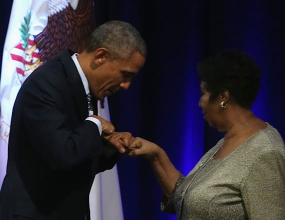 Barack and Michelle remember Aretha in tribute
