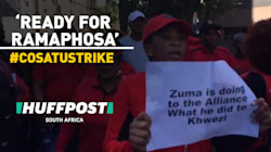 'We Are Ready For Ramaphosa,' Chant Protesters At Cosatu