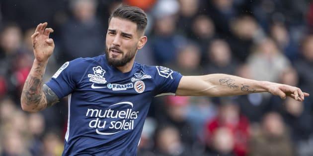 Le footballeur Andy Delort, prêté au Montpellier HSC cette saison, avait été arrêté fin août 2018.