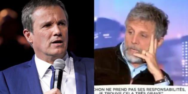 """""""Honte à lui"""": l'équipe de Dupont-Aignan dénonce """"l'indécence"""" de Guillon après ses propos sur la mort de la mère du candidat"""