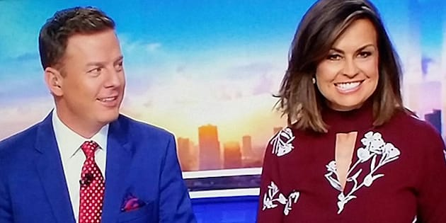 """I'm the gal that sits next to the guy who wore exactly the same suit on air every weekday for a whole year. Every single day. And no-one noticed."""