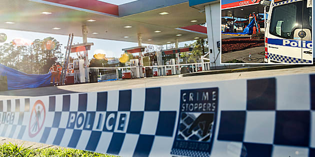 The Queanbeyan Caltex service station where a man was stabbed to death on Thursday. Photo by Karleen Minney.