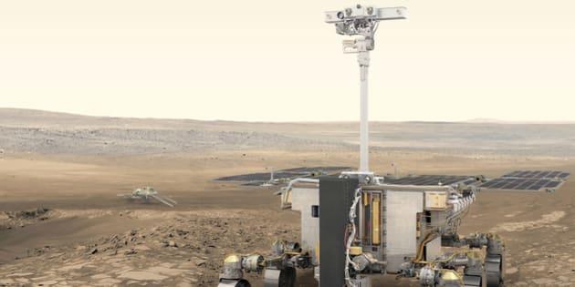 Le rover ExoMars doit se poser sur Mars en 2020 pour y chercher des traces de vie passées.