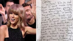 Taylor Swift Comes Out Of Hiding To Send Fan Adorable Handwritten Note For