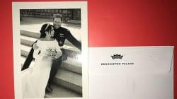 Harry e Meghan hanno ringraziato i fan con questa foto e un messaggio