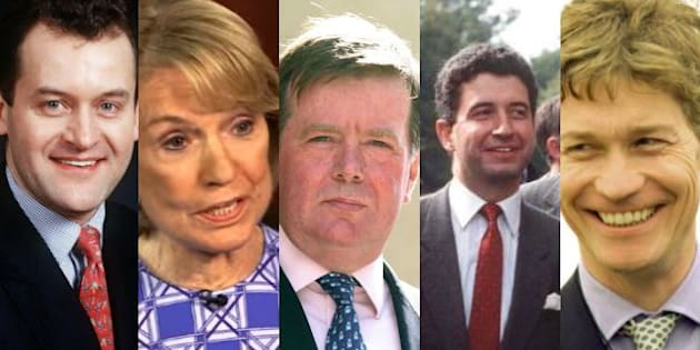 Paul Burrell, Mary Robertson, Ken Wharfe, Patrick Jephson et Richard Kay.