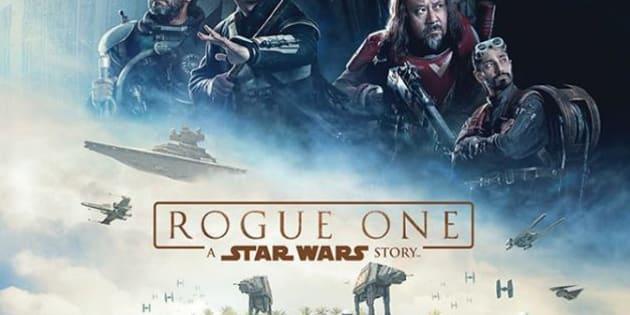 """L'affiche du film """"Star Wars: Rogue One""""."""