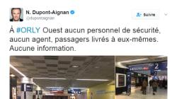 Présent à Orly, Nicolas Dupont-Aignan nous dit son étonnement face au manque