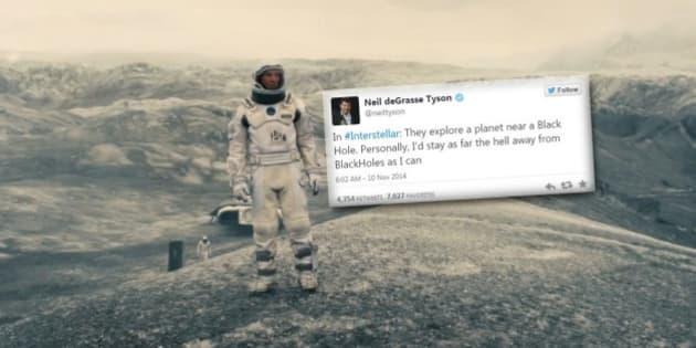 """""""Interstellar"""": les critiques de l'astrophysicien Neil deGrasse Tyson sur Twitter"""