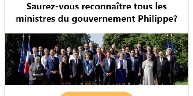 Un an après, saurez-vous reconnaître les membres du gouvernement?