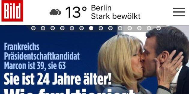 Bild s'interroge sur la différence d'âge entre Emmanuel et Brigitte Macron.
